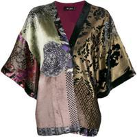 Etro Patchwork Kimono - Roxo