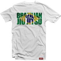 Camiseta Mata Leão Brazilian Jiu Jitsu Branca