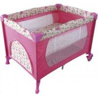 Berço Portátil E Cercadinho Eco Color Baby Rosa