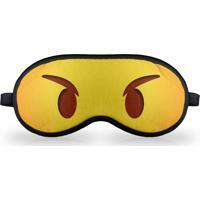 Máscara De Dormir - Emoticon Emoji Bravinho Geek10 - Amarelo
