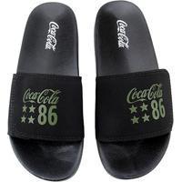 Chinelo Coca-Cola Slide Velcro 86 Star Masculino - Masculino-Preto