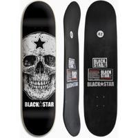 Shape De Skate Black Star Skull 8.2 - Unissex
