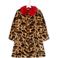 Dolce & Gabbana Kids Sobretudo Animal Print - Neutro