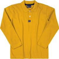 Camisa Polo Manga Longa Amarelo