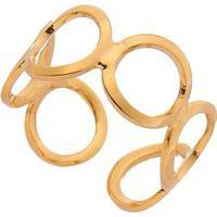 Anel De Falange Banhado A Ouro- Dourado- Regulávelbcarolina Alcaide