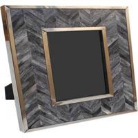 Porta Retrato Osso- Pashmina- Bone Gray/Silver- Cinza