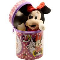 Boneca Chaveiro Minas De Presentes Minnie Vermelho 23Cm Na Lata - Disney Vermelho