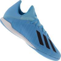 Chuteira Futsal Adidas X 19.3 Ic - Adulto - Aqua