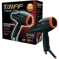 Secador Taiff Titanium Serie Colors 2100 Watts 1Un Preto/Laranja