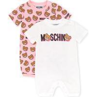 Moschino Kids Macacão De Bebê Com Estampa - Branco