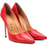 Scarpin Couro Carrano Salto Alto Clássico - Feminino-Vermelho