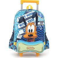 Mochilete Escolar Pluto 38X28X14 Cm Azul Luxcel
