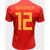 Camisa Seleção Espanha Home 2018 N° 12 Odriozola - Torcedor Adidas Masculina - Masculino