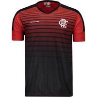 Camiseta Flamengo Strike Masculina - Masculino-Preto+Vermelho