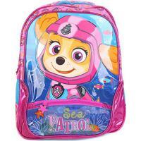 Mochila Escolar Infantil Paw Patrol Sea Patrol Skye - Feminino-Rosa+Pink