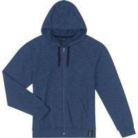 Jaqueta Masculina Com Capuz Azul