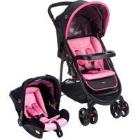 Carrinho De Bebê Travel System Nexus Até 15Kg Rosa Cosco