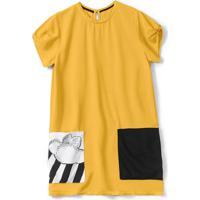 Vestido Lilica Ripilica Infantil Amarelo