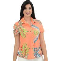e7eb197d5b7e5 ... Camisa Moché Bora Bora - Feminino-Coral