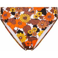 Dodo Bar Or Calcinha De Biquíni Morgan Cintura Alta Com Estampa Floral - Marrom