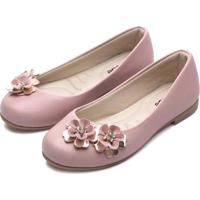 Sapatilha Tricae Menina Flores Rosa