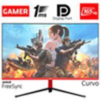 Monitor Gamer Led Curvo 24P 1Ms 165Hz Hq 24Ghq-Black Rgb R3000 Freesync Hdmi Display Port Preto