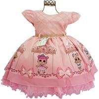 Vestido Infantil De Festa Da Lol - 1 Ao 3