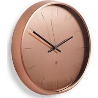 Relógio De Parede De Metal Umbra Cobre 30,5Cm - 26675