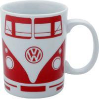 Caneca Cerâmica Volkswagen Kombi Vermelha 135 Ml - Caneca Cerâmica Volkswagen Kombi Vermelha 135 Ml