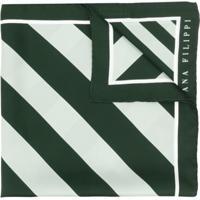 Fabiana Filippi Lenço Com Listras Diagonais - Verde