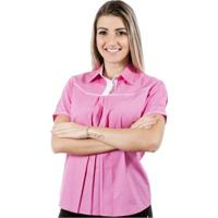 Bata Pimenta Rosada Larissa - Feminino-Rosa+Branco