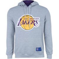 Blusão De Moletom Com Capuz Nba Los Angeles Lakers N152A - Masculino - Mescla