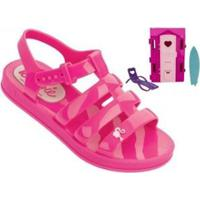 Sandália Infantil Grendene Barbie + Brinde Dream House Feminina - Feminino-Rosa