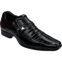 Sapato Social Couro Rafarillo Las Vegas Fivela Masculino - Masculino-Preto