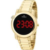 Relógio Champion Digital Ch48064H Feminino - Feminino-Dourado