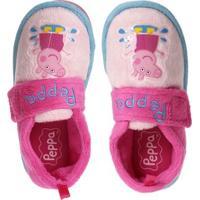 Pantufa Infantil Para Menina Peppa Pig Rosa