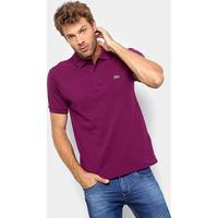 Camisa Polo Lacoste Original Fit Masculina - Masculino-Vinho