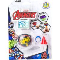 Pião De Batalha - Giro Hero - Disney - Marvel - Avengers - Thor - Dtc