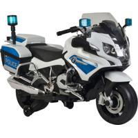 Moto Policia Bmw Elétrica 12V Bandeirante Branco