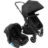 Carrinho De Bebê Com Bebê Conforto Cosco Poppy 0 A 15Kg - Unissex-Preto