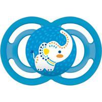 Chupeta Perfect Silicone Elefante - Unissex-Azul