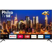 Tv Smart 4K Led 58 PolegadasPhilco Bivolt Ptv58F60Sn