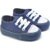 Tênis Bebê Fanfy Lee Conforto Masculino - Masculino-Azul+Branco