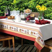 Toalha De Mesa Candy- Branca & Vermelha- 78X78Cmkarsten
