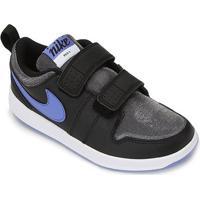 Tênis Infantil Nike Pico 5 Glitter Psv - Unissex-Preto+Branco