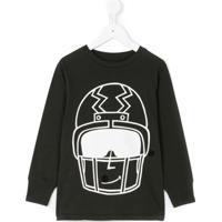 Stella Mccartney Kids Blusa Com Estampa 'Gene Helmet' - Cinza