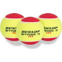 Bola De Tênis Dunlop Stage 3 Com 3 Unidades - Unissex