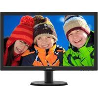 "Monitor Widescreen Com Entrada Hdmi Led 23.6"" Philips Full Hd 243V5Qhaba"