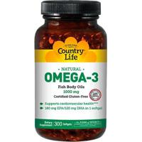 Omega-3 (300 Softgels) - Country Life - Unissex