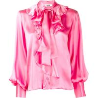 Msgm Camisa Com Babados - Rosa